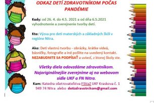 Výzva pre deti materských a základných škôl v regióne Nitra